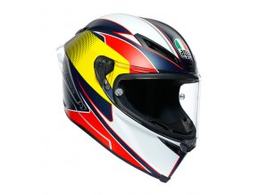 prilba na moto agv supersport blue red yellow
