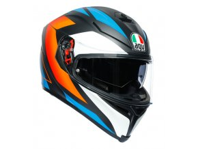 prilba na moto agv k 5s core matt black blue orange