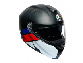prilba na moto agv sportmodular layer carbon red blue