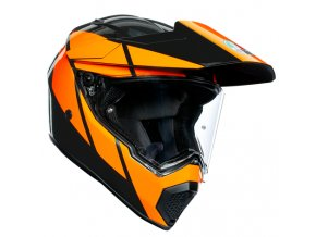 prila na moto agv ax 9 trail gunmetal orange