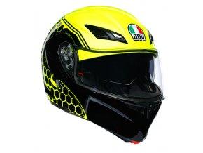 prilba na moto agv compact st detroit yellow fluo black