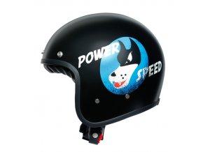 prilba na moto agv power speed pure matt black