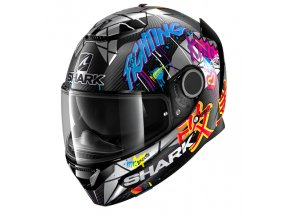Prilba SHARK SPARTAN Lorenzo Catalunya GP Black Red Glitter KRX