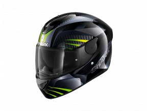 prilba na moto shark d skwal 2 mercurium black antracite green kag