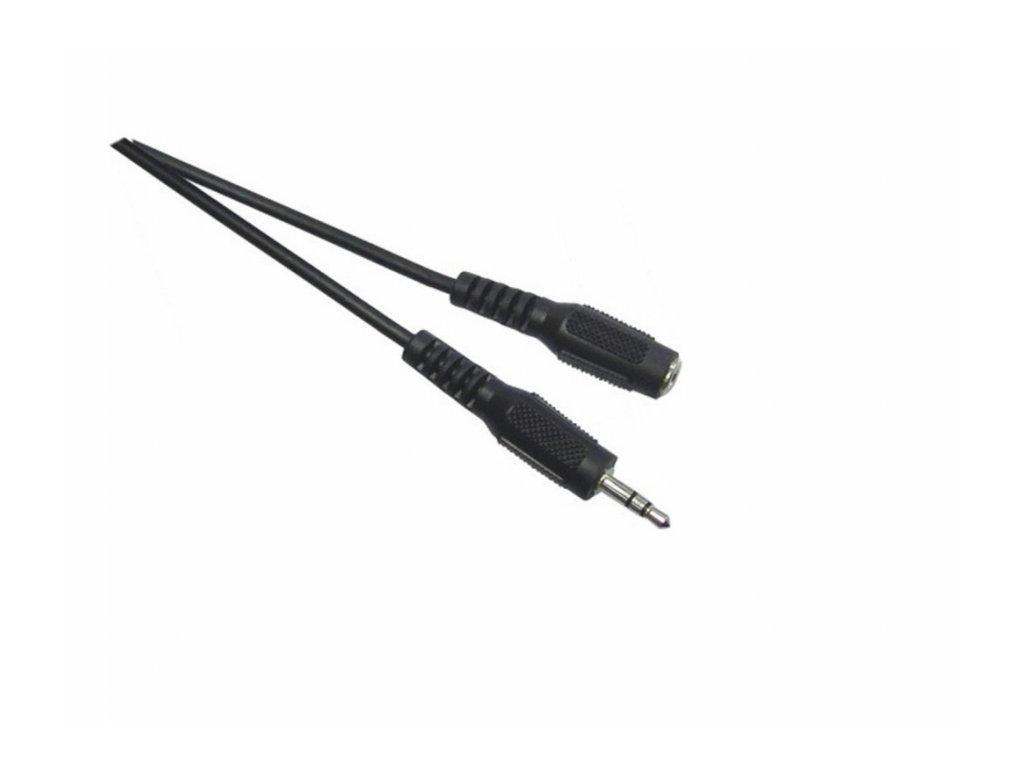 Napájecí DC prodlužovací kabel 4 metry včetně konektorů černý