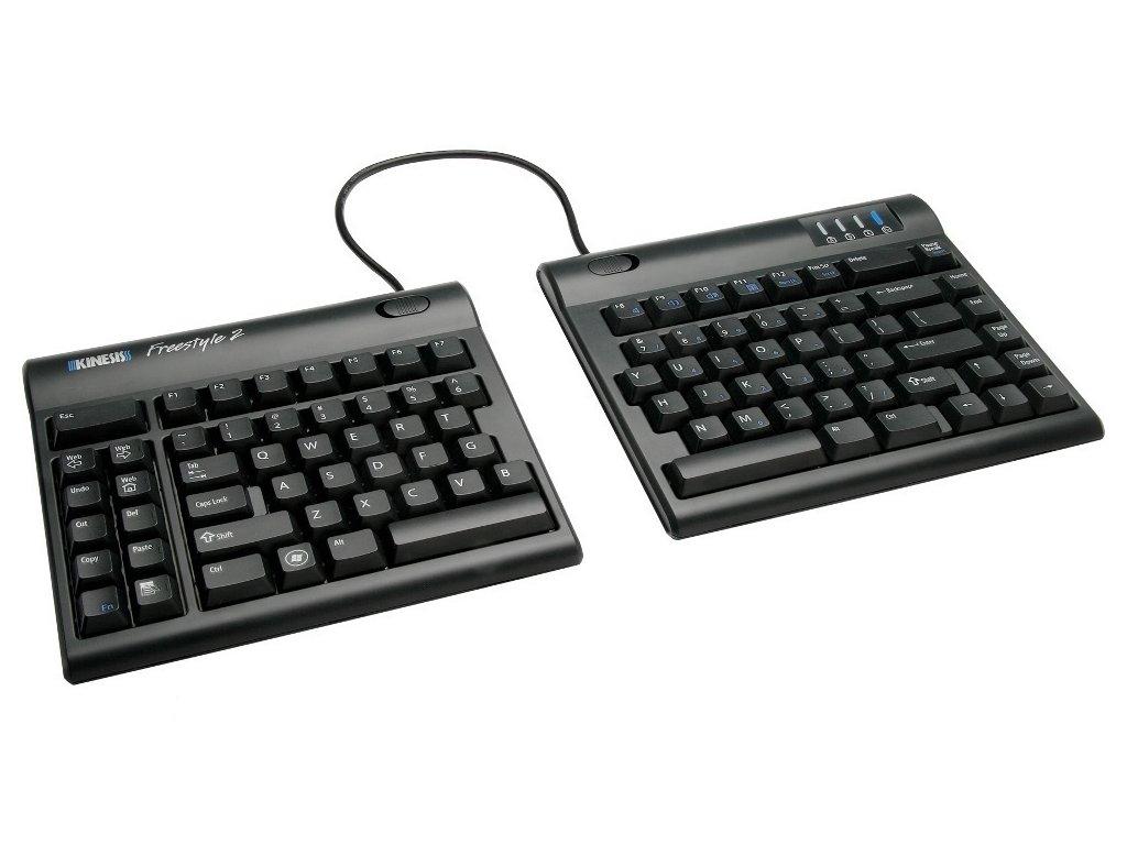 Freestyle2 PC Kinesis KB800PB US Ergonomic Split Keyboard for