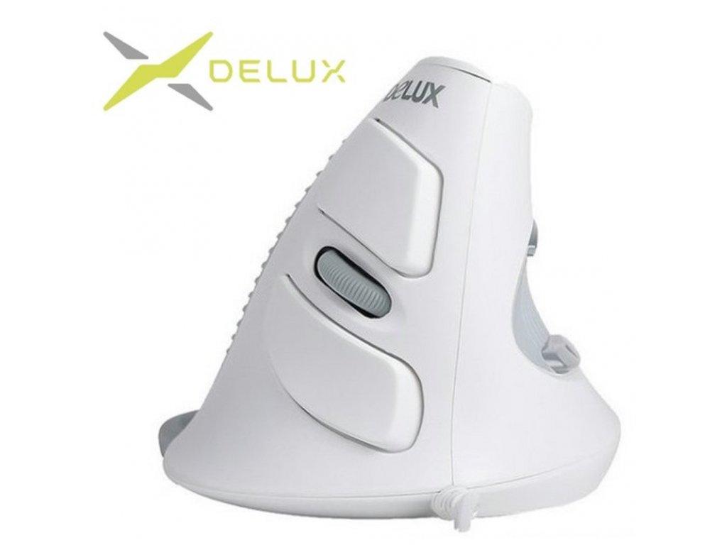 delux-vertikalni-mys-m618-wired-white