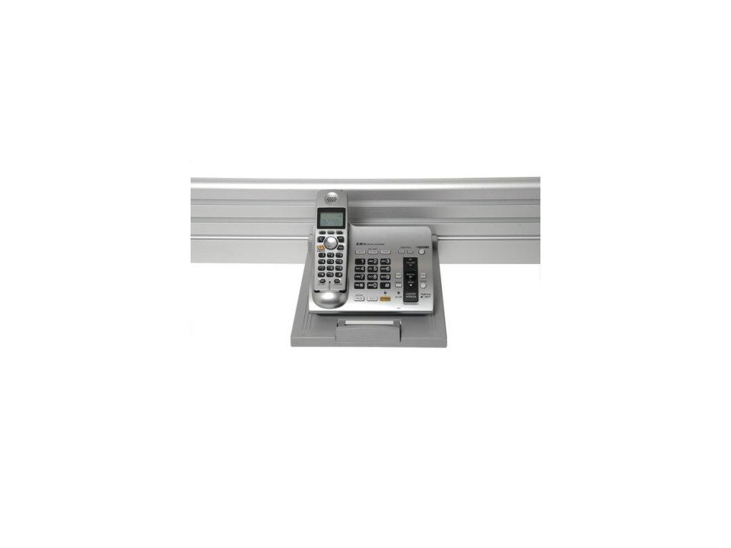 Humanscale police na telefon stříbrná (A11005S)