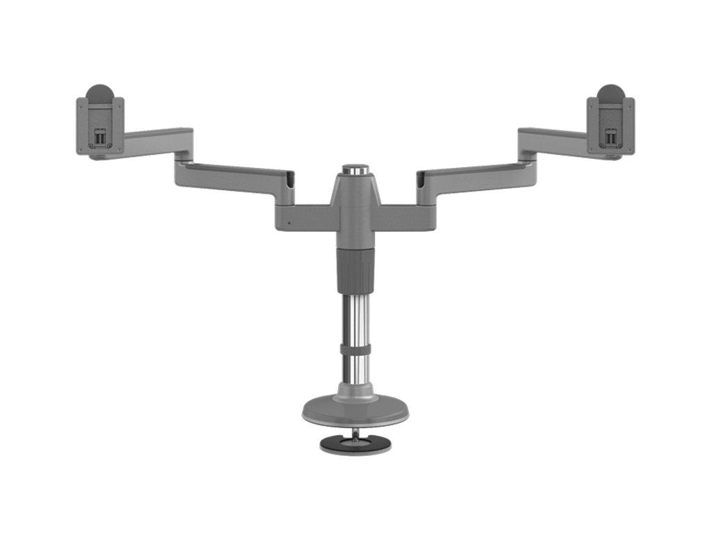 Humanscale M-Flex stojan pro dva těžké displeje upevnění na šroub - stříbrno-šedá (MF82S33B12)