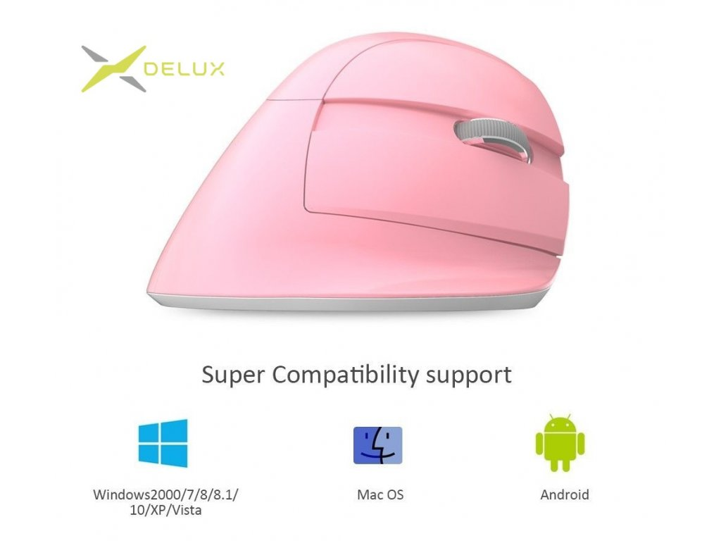 Delux M618mini Wireless mouse pink (M618MPI)
