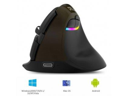 Delux M618mini Bluetooth mouse iron gray