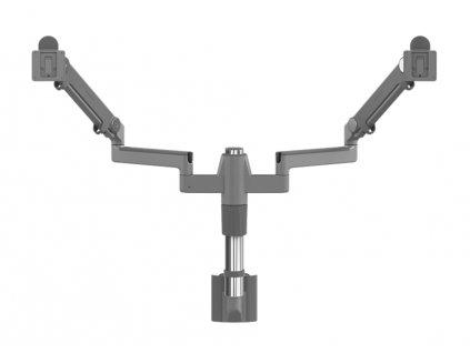 humanscale-mf22s22s12-stojan-pro-dva-displeje-upevneni-na-kolejnici-stribrna