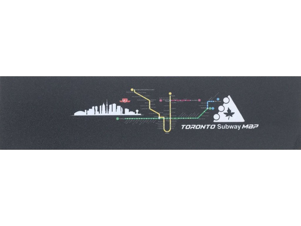 Trynyty Toronto Subway Map Griptape