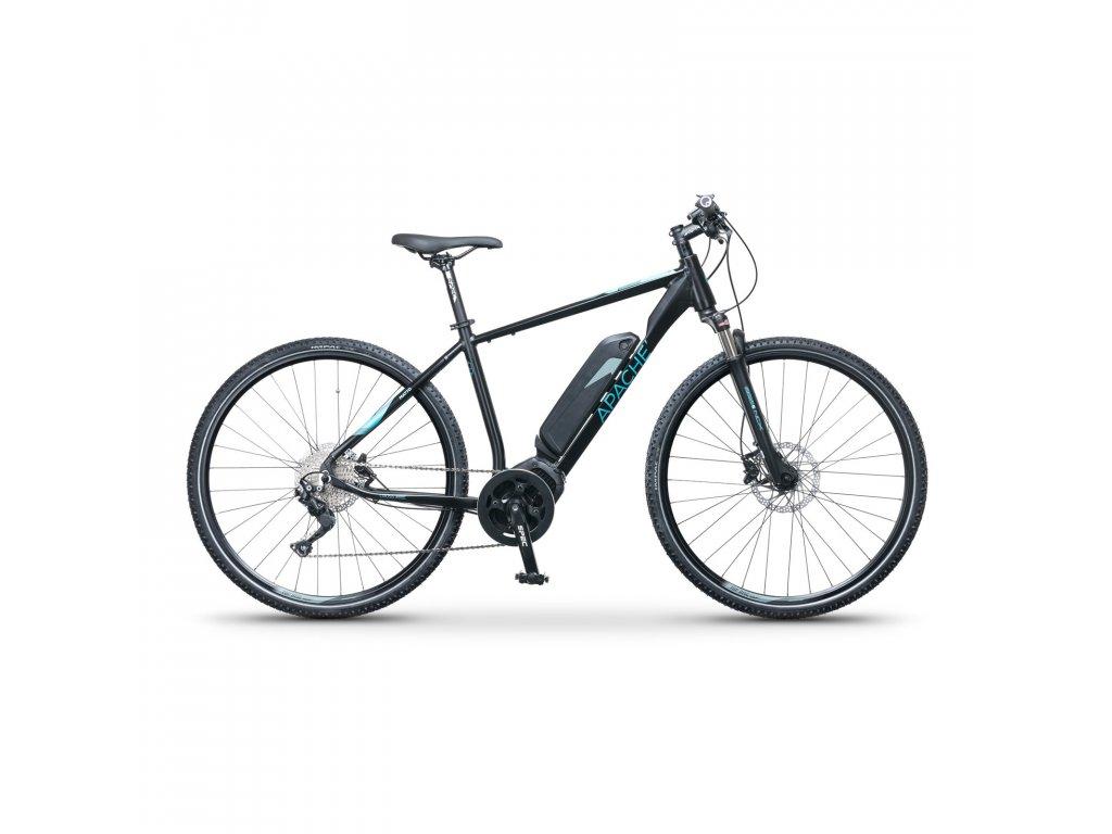 """Elektrobicykel krosový Apache Matto Comp čierna, 21"""""""