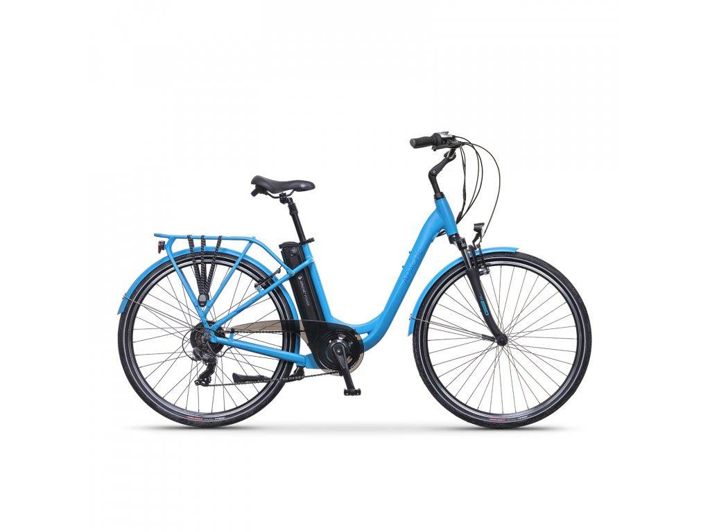 """Elektrobicykel městské Apache Wakita City 28"""" sky blue, 18"""""""