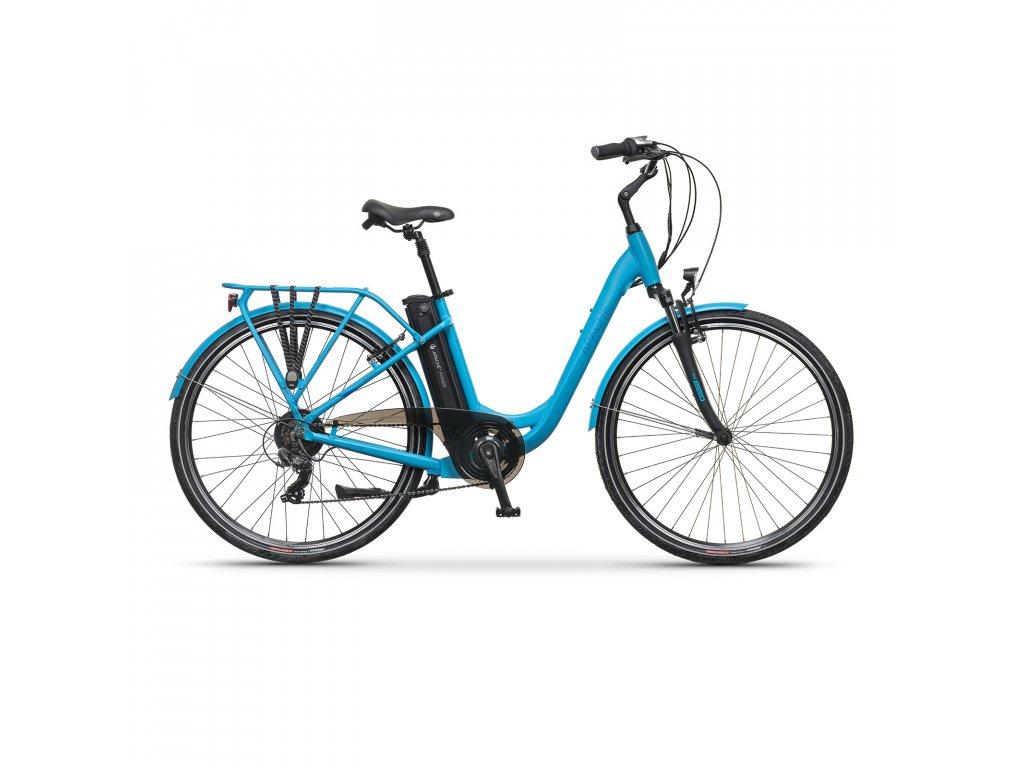 """Elektrobicykel městské Apache Wakita City 26"""" sky blue, 18"""""""