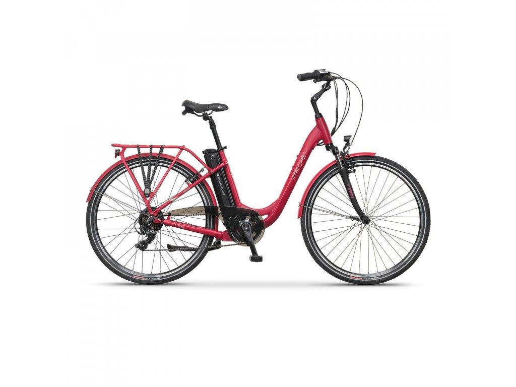 """Elektrobicykel městské Apache Wakita City 26"""" raspberry, 18"""""""