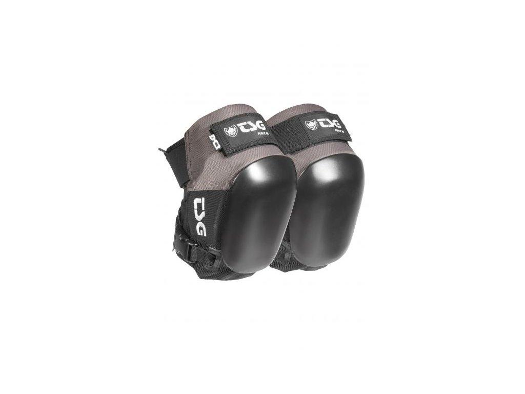 tsg knie und schienbeinschoner kneepad force iii coal black vorderansicht 0071020 600x600