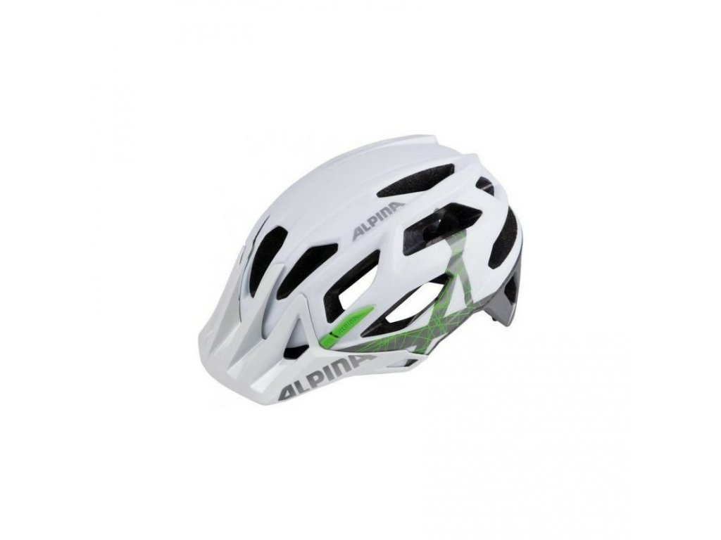 prilba alpina garbanzo white titanium green