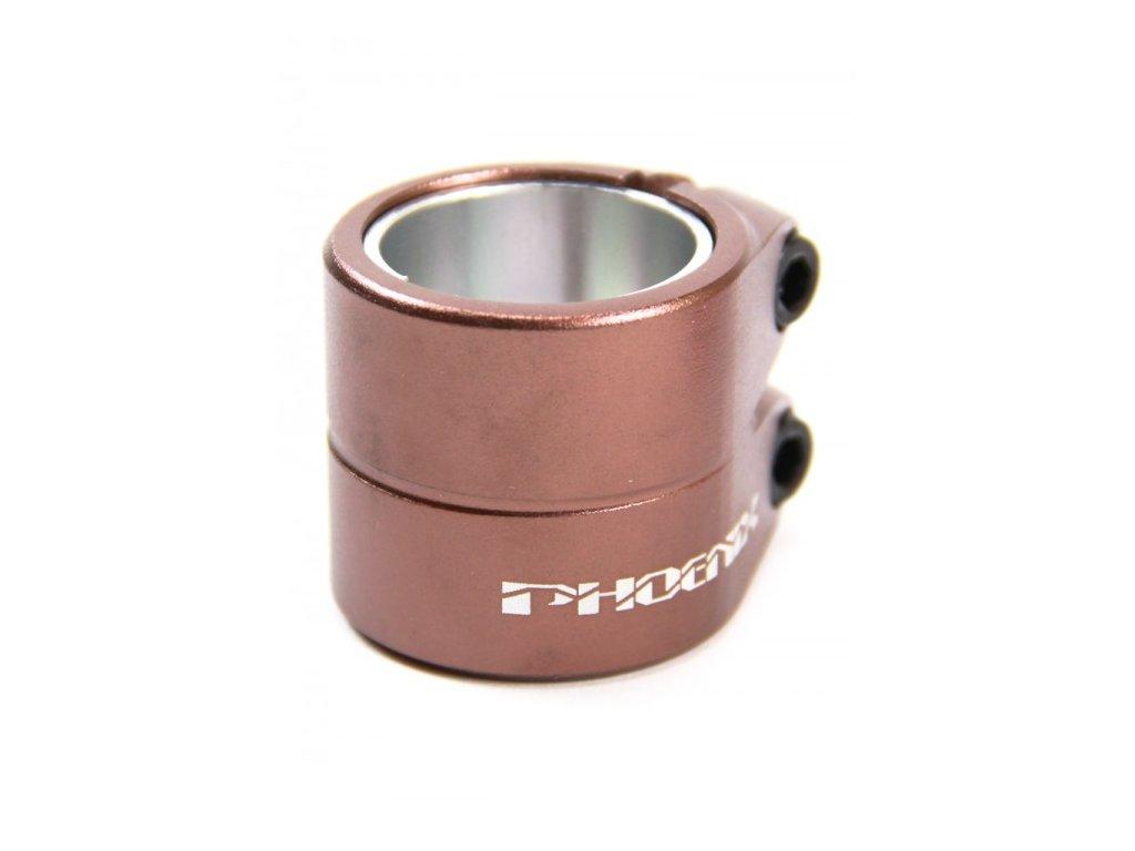vyr 2284phoenix smooth double clamp bronze