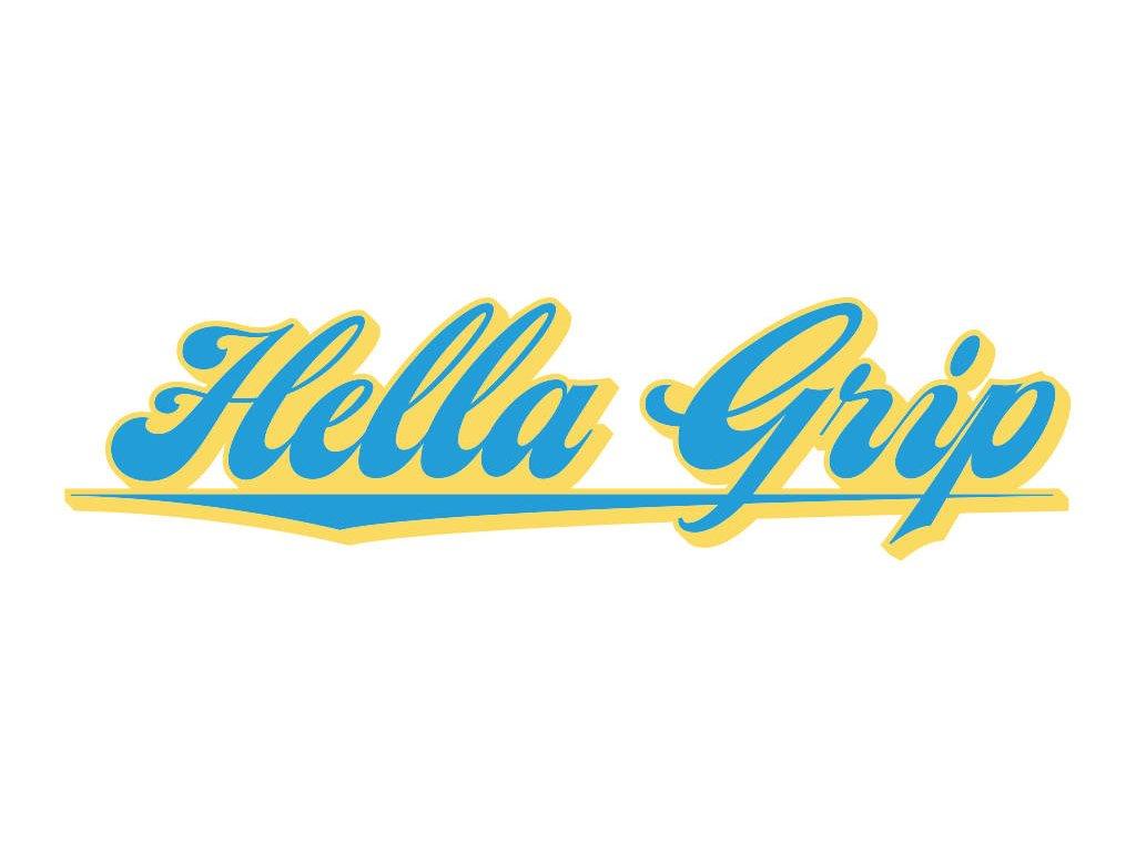 hella grip logo scooter sticker