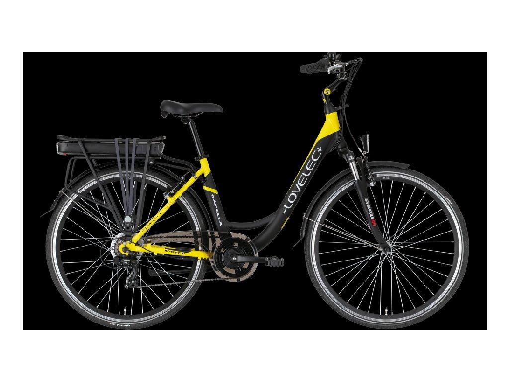 LOVELEC Capella Black/Yellow Baterie 10 Ah až 90 km