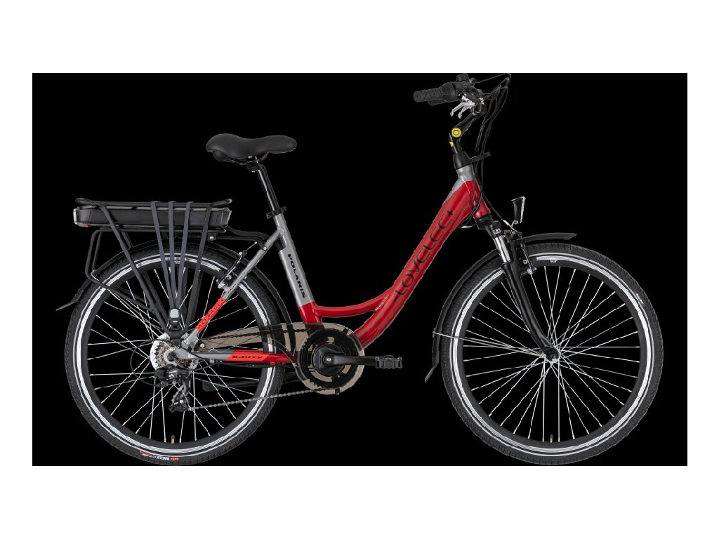LOVELEC Polaris Red/Grey Baterie 10 Ah až 90 km