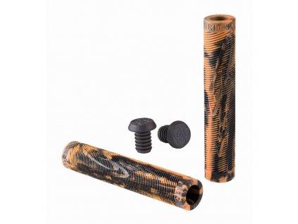 17693 grit handlebar grips 160mm black orange small