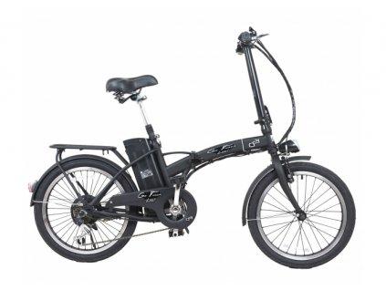 "Skladací elektrobicykel G21 LEXI 17"", 20"" Graphite Black 2019"