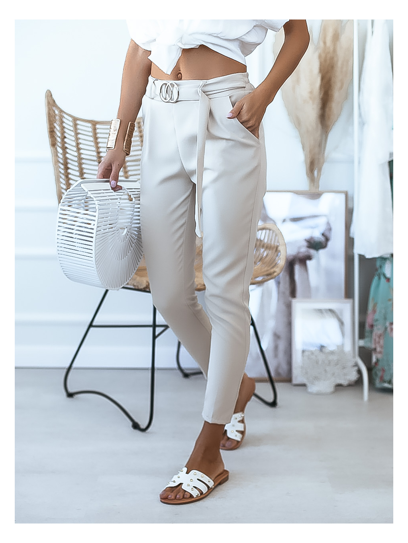 Kalhoty Print/creamy