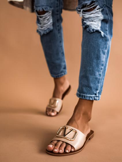 Pantofle Sylvie/beige