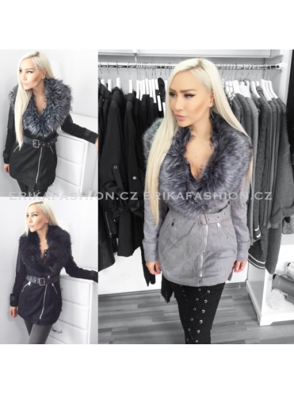 Kabátek D-style (Barva Šedočerná, Velikost XL)