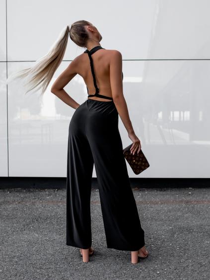 Černý dlouhý overal PERCY na zavazování
