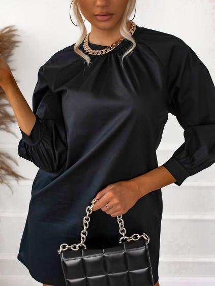 Černé jednoduché šaty SHARP