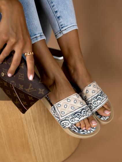 Béžové nízké pantofle STUCK