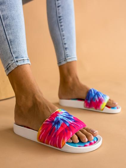 Vícebarevné nízké pantofle STUCK