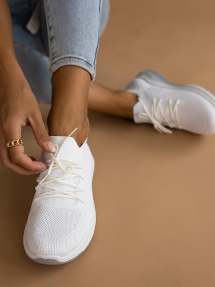 Bílé plátěné tenisky SPLIT
