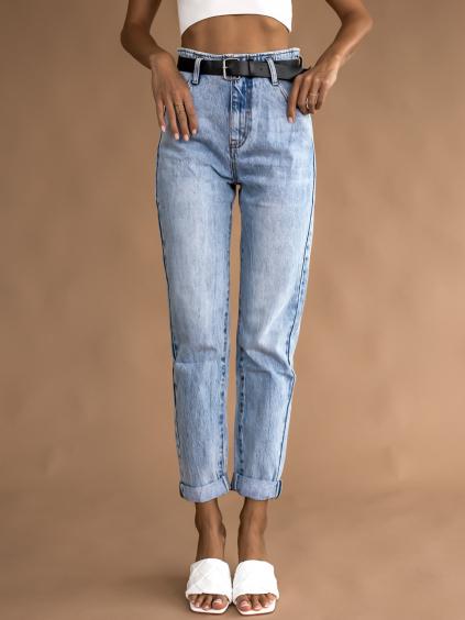 Světle modré džíny PIECE s páskem