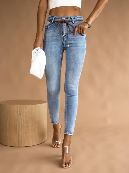 Modré džíny CREATURE s vázáním