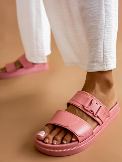 Růžové páskové pantofle DYNASTY