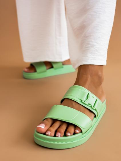 Zelené páskové pantofle DYNASTY