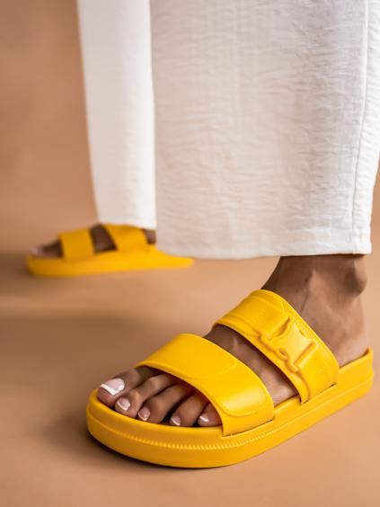 Žluté páskové pantofle DYNASTY