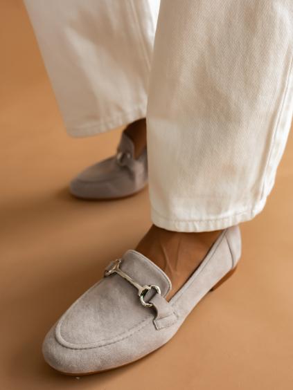 Šedé semišové boty AUBRIE