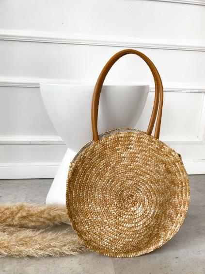 Béžová slaměná kabelka DESIRE