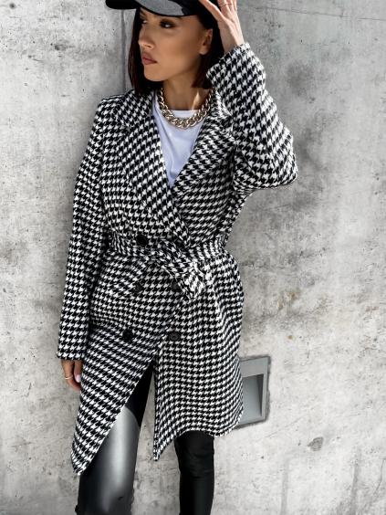 Černobílý kabátek BRAVE se vzorem