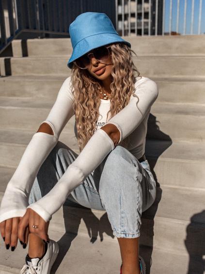 Modrý módní klobouk GENTLE