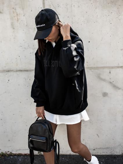 Černá oversize mikina HANDY s kapucí