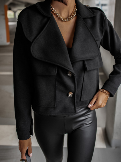 Černý kratší kabátek MANDY