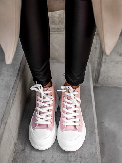 Růžové kotníkové tenisky GEMA