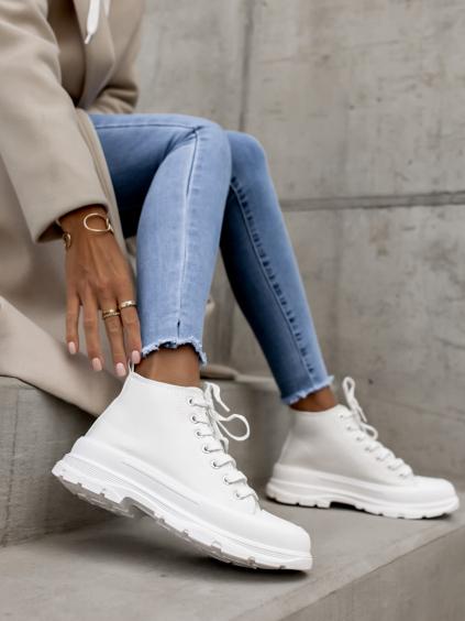 Bílé kotníkové tenisky GEMA